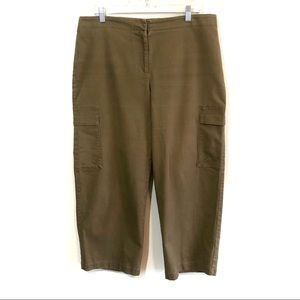 Eileen fisher cropped brown cargo pants high rise